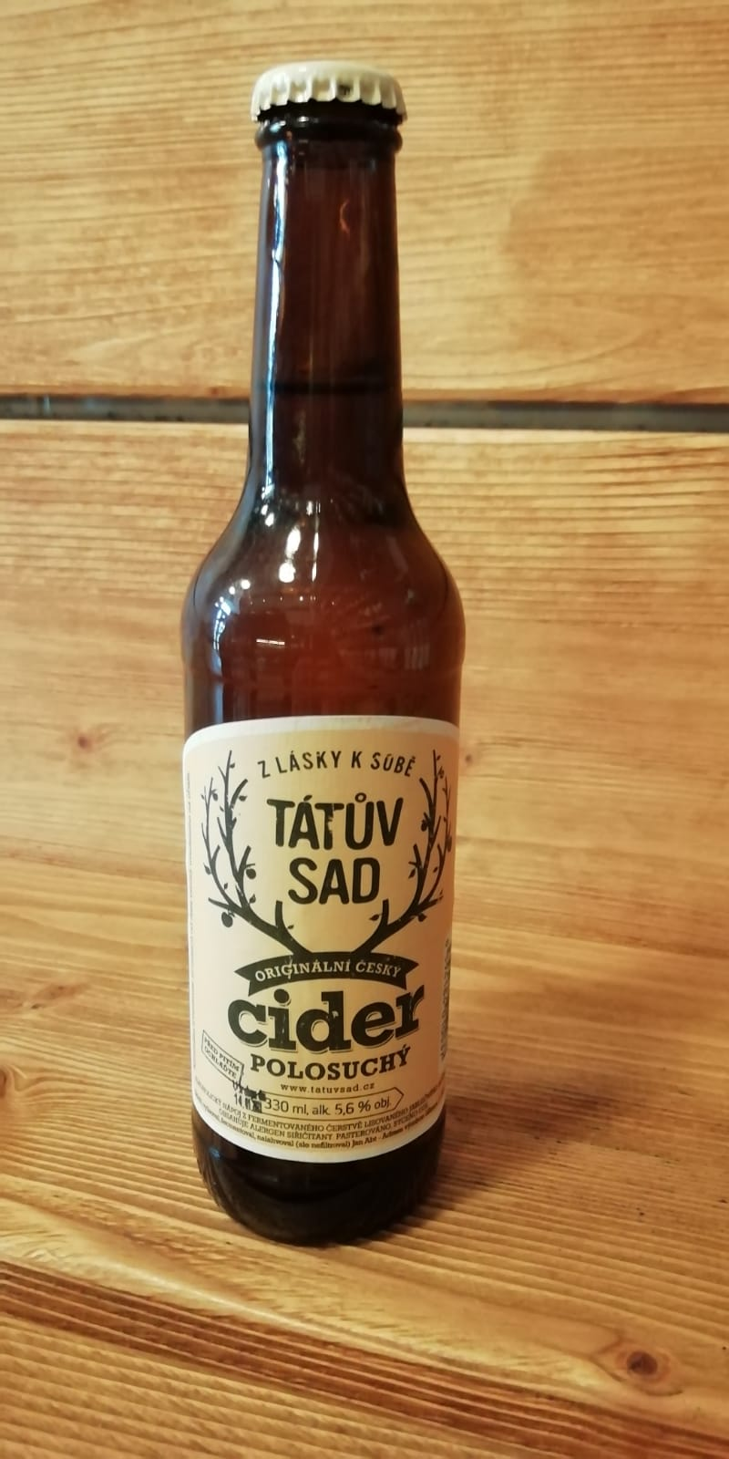 Tátův sad Cider polosuchy